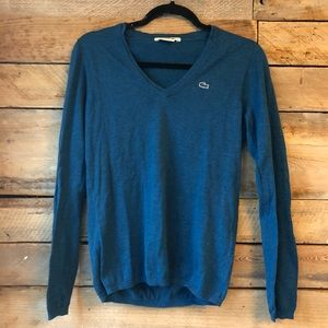 LaCoste 100% Cotton V-Neck Knit Sweater 38